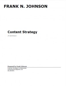 Content Strategy Summary