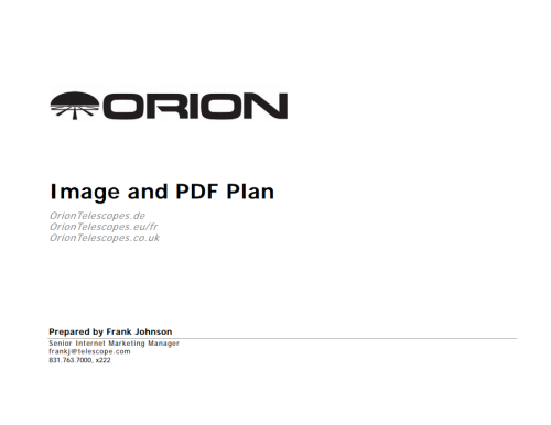 European Website Image and PDF Plan